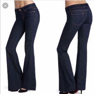J Brand Lovestory Bell Bottom Jeans